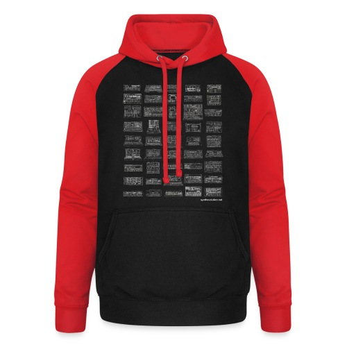 Synth Evolution T-shirt - Black - Unisex Baseball Hoodie