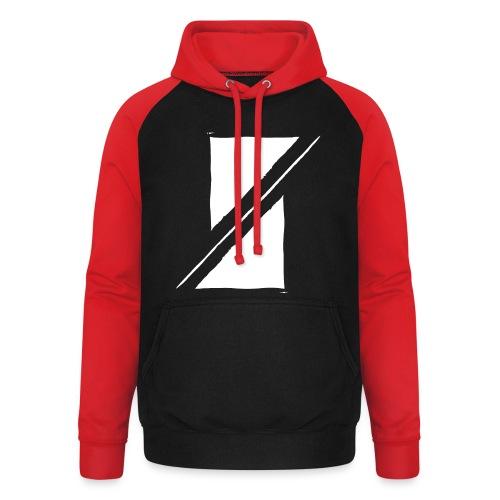 Muzik & Friendz Records Logo - Unisex baseball hoodie
