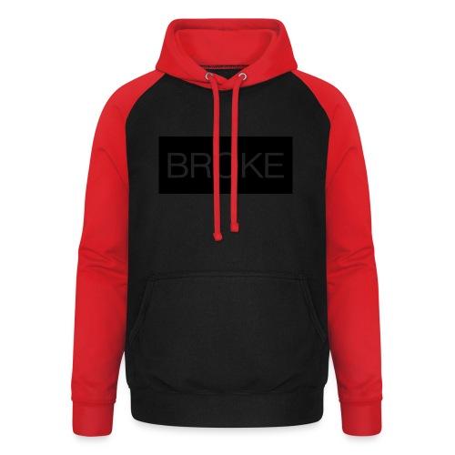 BrokeBrand - Unisex baseball hoodie