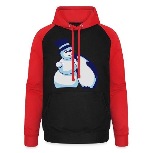 Schneemann und Pinguin - Unisex Baseball Hoodie