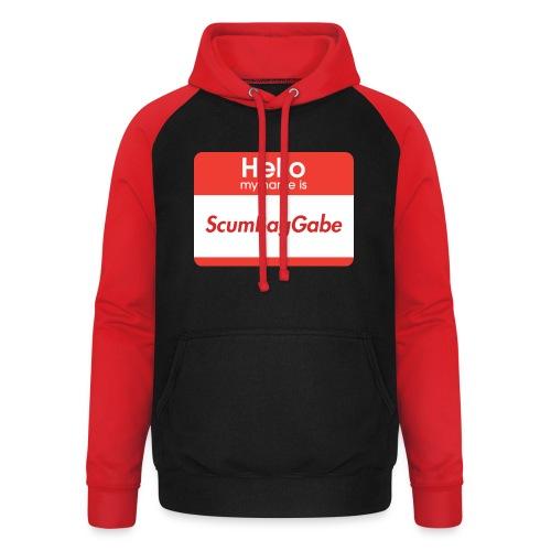 Hello My Name Is ScumBagGabe - Unisex Baseball Hoodie