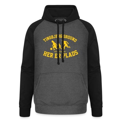 Tingbjerg Ground - her er plads - Unisex baseball hoodie