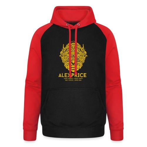 Alex Price - Felpa da baseball con cappuccio unisex