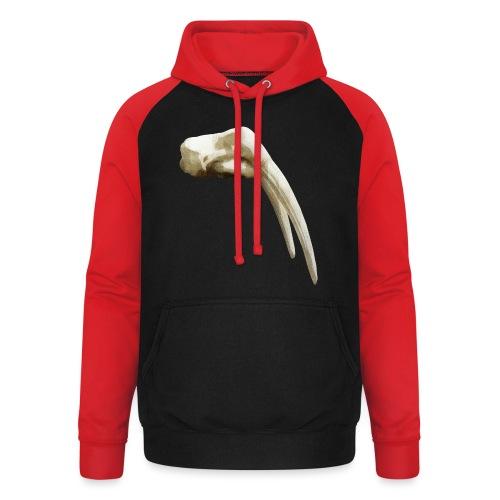 Schedel van een walrus - Unisex baseball hoodie