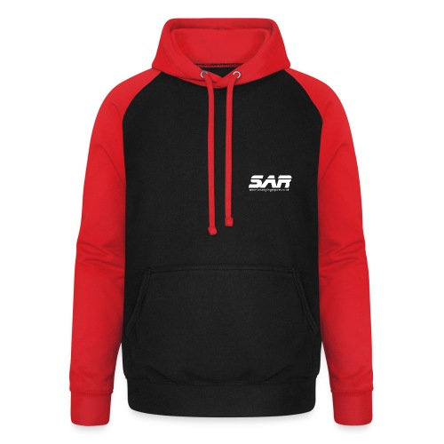 sar logo white ontransparent - Unisex Baseball Hoodie