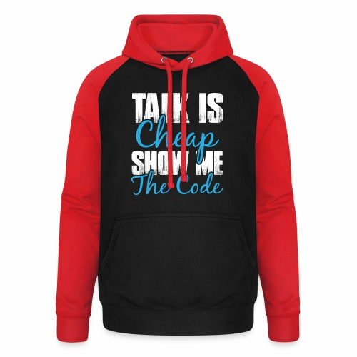 Talk is Cheap - Unisex Baseball Hoodie