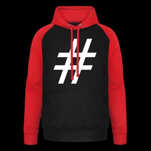 Hashtag Team - Unisex Baseball Hoodie