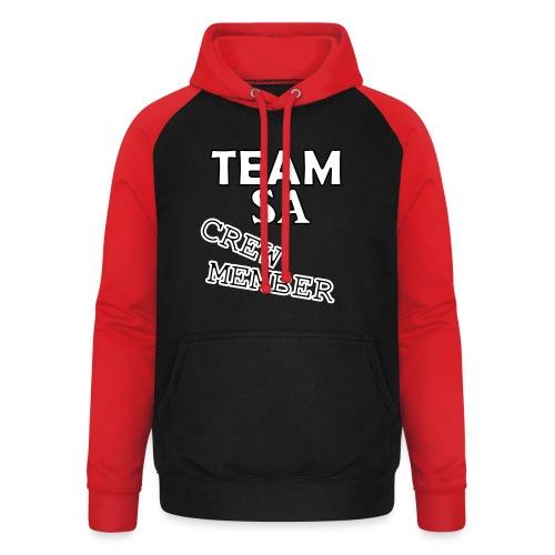 Team SA Crew Member Vit - Basebolluvtröja unisex