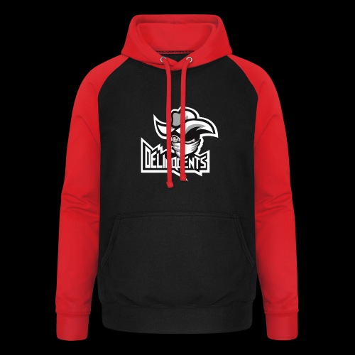 Delinquents TriColor - Unisex baseball hoodie