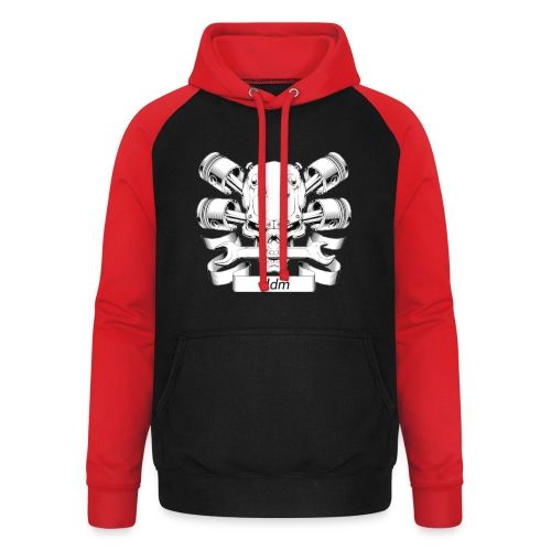 JDM dood - Unisex baseball hoodie
