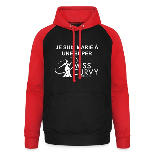 MISS CURVY Je suis marie - Sweat-shirt baseball unisexe