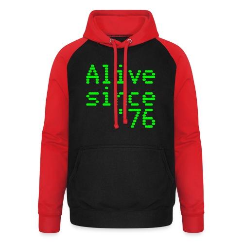 Alive since '76. 40th birthday shirt - Unisex Baseball Hoodie