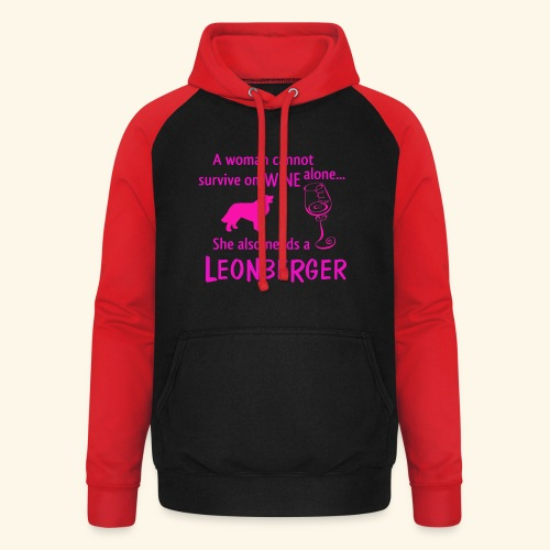 Wine&Leonberger - Basebolluvtröja unisex