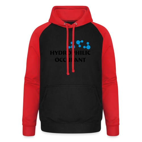 Hydrophilic Occupant (2 colour vector graphic) - Unisex Baseball Hoodie