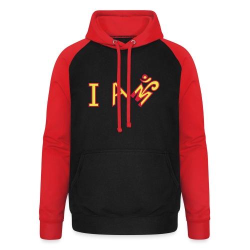 Jeg er Om - Unisex baseball hoodie