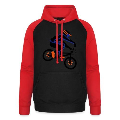 BMX Rider Dark - Unisex baseball hoodie