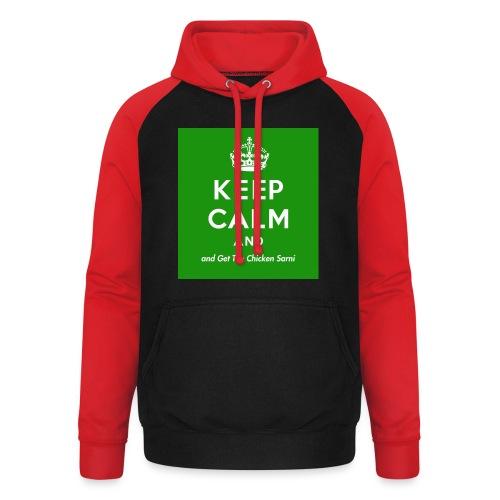Keep Calm and Get The Chicken Sarni - Green - Unisex Baseball Hoodie