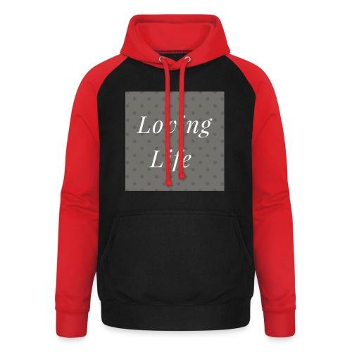 loving life top - Unisex Baseball Hoodie