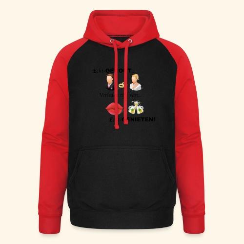 Echt-genoot, verleden tijd van ECHT-GENIETEN - Unisex baseball hoodie