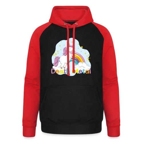 unicorn death metal - Unisex baseball hoodie