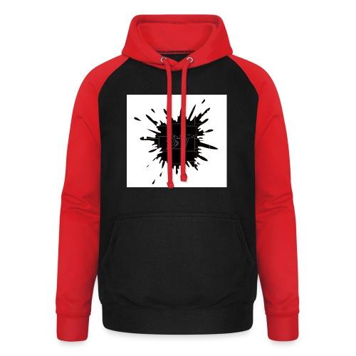 Blacktuber Splash Logo - Unisex baseball hoodie