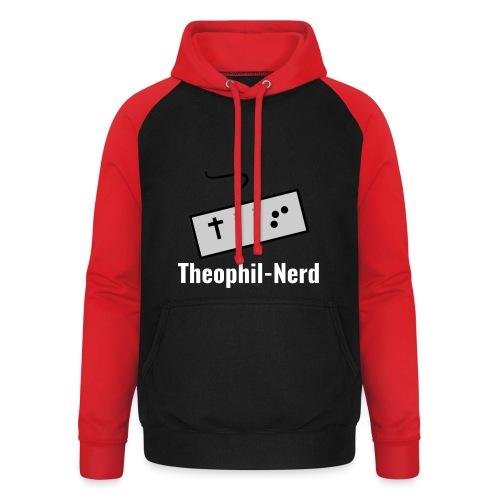 Retro Theophil-Nerd - Unisex Baseball Hoodie