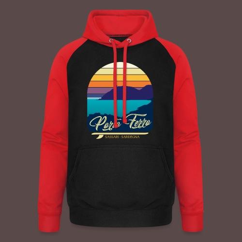 Porto Ferro - Vintage travel sunset - Felpa da baseball con cappuccio unisex
