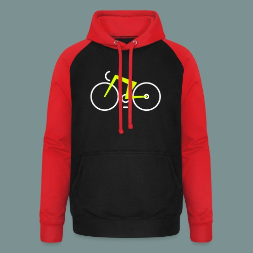 Bikes against cancer - Unisex baseball hoodie