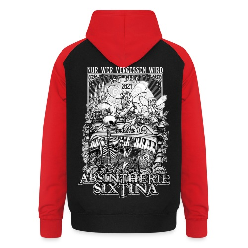 Absintherie Sixtina 2021 - Sixtina Support - Unisex Baseball Hoodie