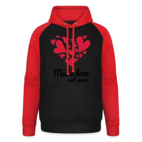 Make Love Not War T-Shirt - Unisex Baseball Hoodie