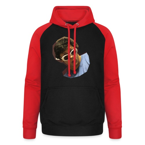 Handsome Person on Clothing - Unisex Baseball Hoodie