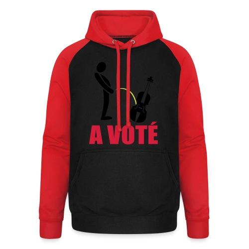 A voté - Sweat-shirt baseball unisexe