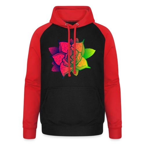 rose tricolore - Sweat-shirt baseball unisexe
