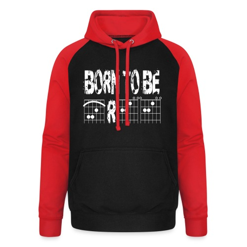 Born to be free in guitar chords - Unisex Baseball Hoodie
