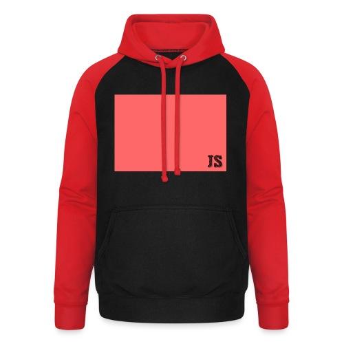 JustSquares Roze - Unisex baseball hoodie