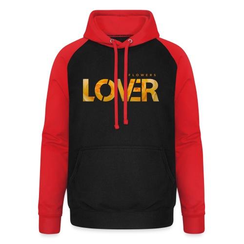 Flowers Lovers - Yellow - Felpa da baseball con cappuccio unisex