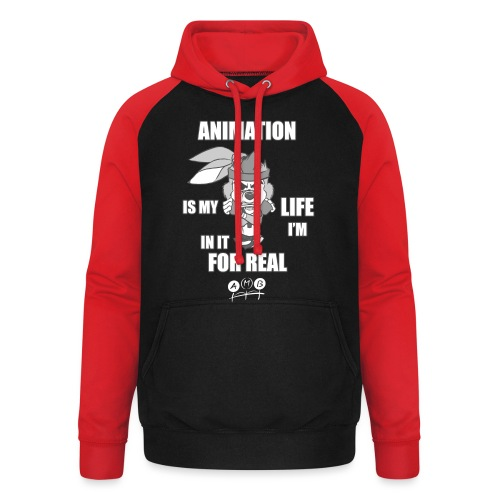 AMB Animation - In It For REAL - Unisex Baseball Hoodie