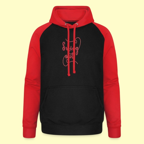 Swing Out Lindy Hop Vintage - Swing Retro - Unisex Baseball Hoodie