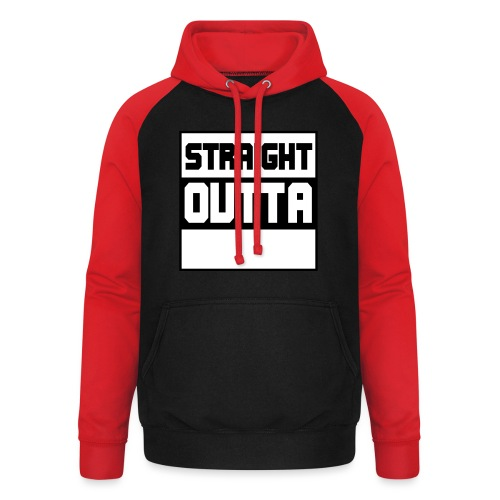lav selv dit eget STRAIGHT OUTTA STATEMENT - Unisex baseball hoodie