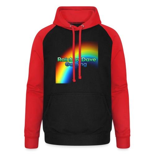 RainbowDave Gaming Logo - Unisex Baseball Hoodie