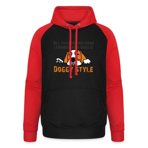 Doggy Style - Sweat-shirt baseball unisexe