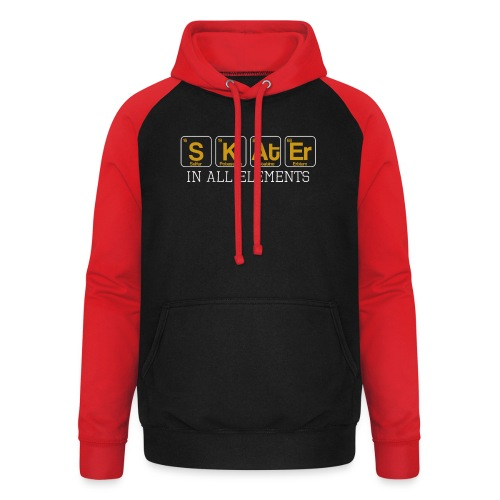 Skater In All Elements Periodic Table Science - Unisex Baseball Hoodie