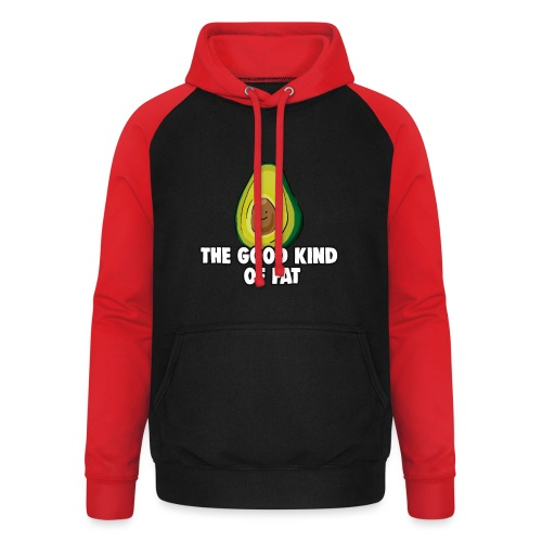 Avocado: The Good Kind of Fat - Unisex Baseball Hoodie