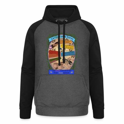 La Cigale et la Fourmi (Jean de la Fontaine) - Sweat-shirt baseball unisexe