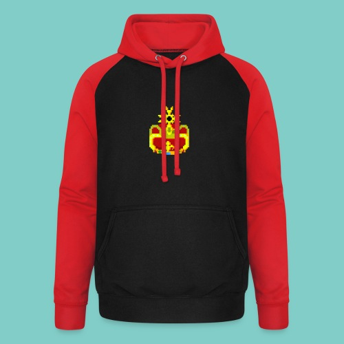 Couronne Pixel art - Sweat-shirt baseball unisexe