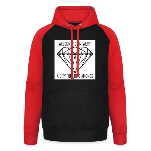 Antwerp lover - Unisex baseball hoodie