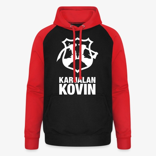 Karjalan Kovin Iso logo - Unisex baseball-huppari