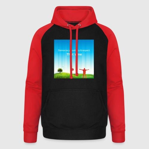 Rolling hills tshirt - Unisex baseball hoodie