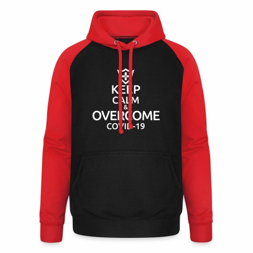 Keep calm and overcome - Bluza bejsbolowa typu unisex