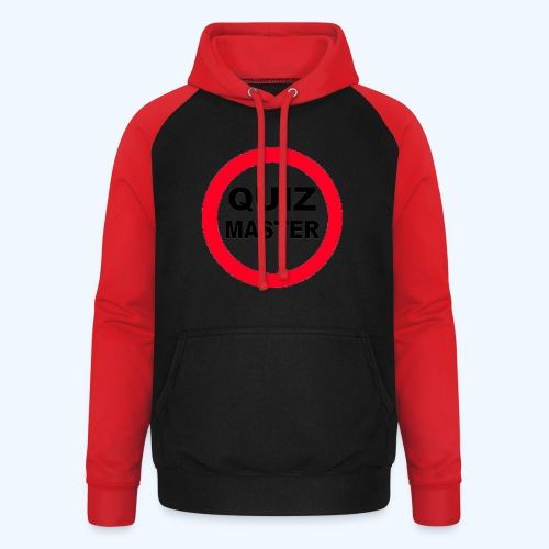 Quiz Master Stop Sign - Unisex Baseball Hoodie